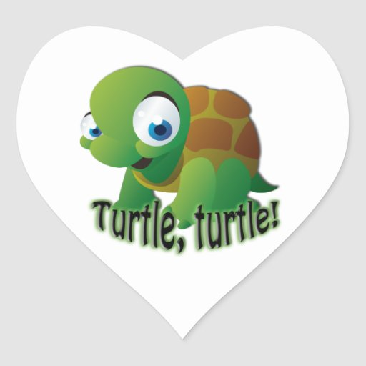 Turtle! Heart Sticker