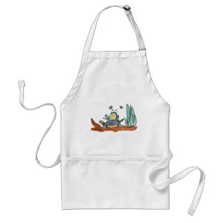 Turtle Helps Frog be Closer to Buzzing Insects Adult Apron