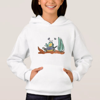 Turtle Helps Frog be Closer to Buzzing Insects Hoodie