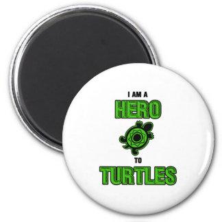 Turtle Hero 1 2 Inch Round Magnet