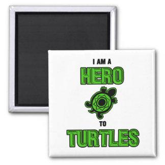 Turtle Hero 1 2 Inch Square Magnet
