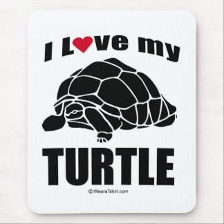 """TURTLE - """"I LOVE MY TURTLE"""" MOUSE PAD"""