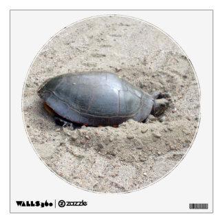 Turtle in Sand Wall Sticker