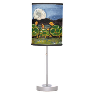 """Turtle in the Moon"" Lamp, Turtle Friends at Night Table Lamp"