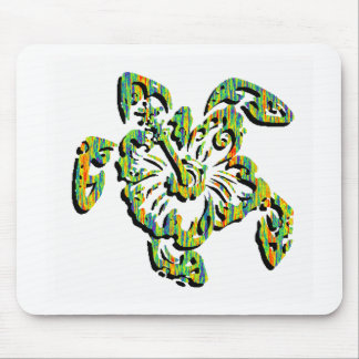 TURTLE IN TROPICAL MOUSE PAD