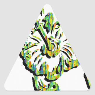 TURTLE IN TROPICAL TRIANGLE STICKERS
