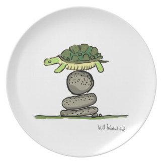 Turtle in Trouble Melamine Plate