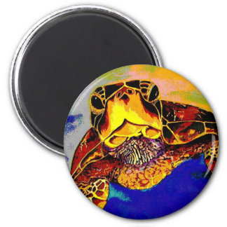Turtle in your face! 2 inch round magnet