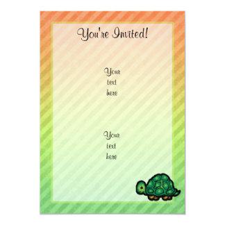 "Turtle 5"" X 7"" Invitation Card"