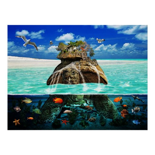 Turtle Island Fantasy Secluded Resort Poster