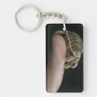 Turtle keychain rectangular acrylic key chains