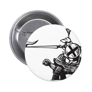 Turtle Knight Pinback Button