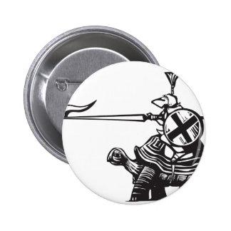 Turtle Knight Pinback Button