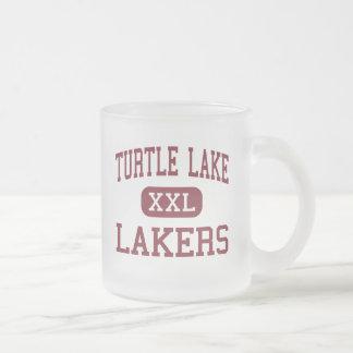 Turtle Lake - Lakers - High - Turtle Lake Frosted Glass Coffee Mug