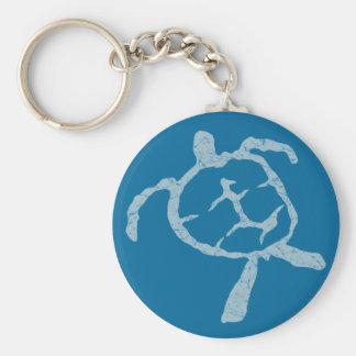 turtle-light blue keychain
