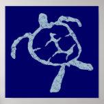 turtle-light blue Poster