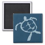 turtle-light blue refrigerator magnet