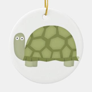 Turtle love ceramic ornament