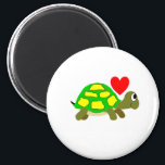 """Turtle Love Magnet<br><div class=""""desc"""">Turtle and red hear. I love Turtles.</div>"""