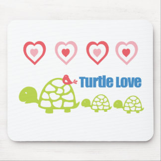 Turtle Love Mouse Pad