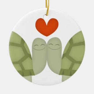 Turtle love ornaments