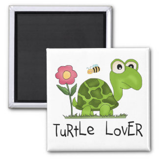 Turtle Lover Tshirts and Gifts 2 Inch Square Magnet