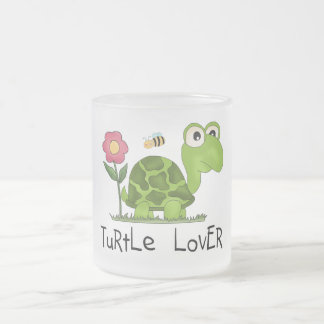 Turtle Lover Tshirts and Gifts Frosted Glass Coffee Mug