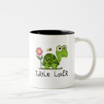 Turtle Lover Tshirts and Gifts Two-Tone Coffee Mug
