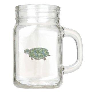 Turtle Mason Jar