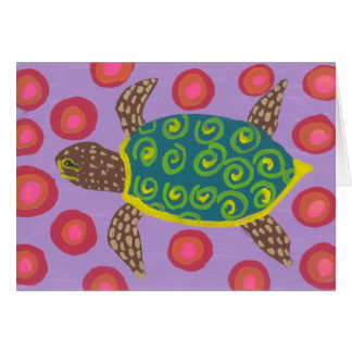 Turtle maze NC Stationery Note Card