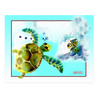 Turtle Meeting Place Postcard