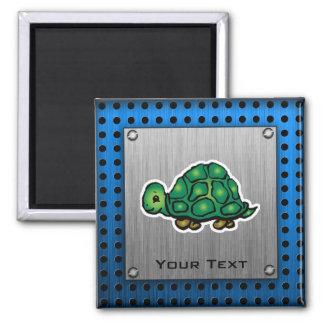 Turtle; Metal-look Refrigerator Magnets