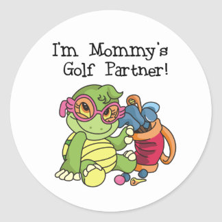 Turtle Mommy's Golf Partner Classic Round Sticker