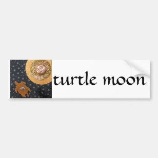 Turtle Moon - collage Car Bumper Sticker