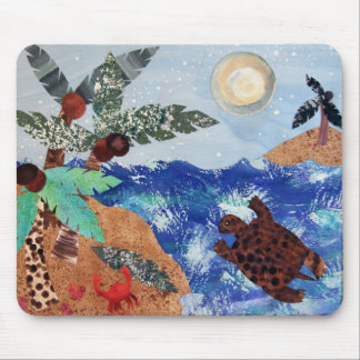Turtle Moon Mouse Pad