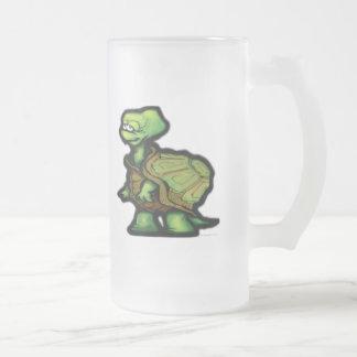 Turtle 16 Oz Frosted Glass Beer Mug