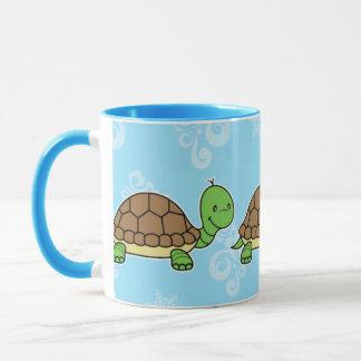 Turtle mug blue