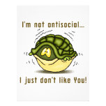 turtle not antisocial just dont like you custom announcement