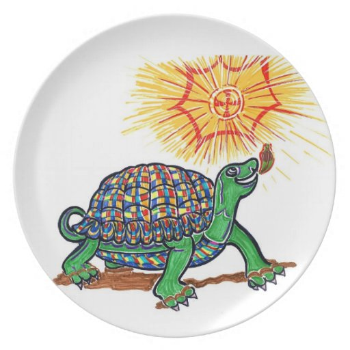 Turtle on a plate