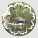 Turtle on a Rock Sticker
