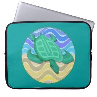 "Turtle On Beach 15"" Laptop Sleeve"