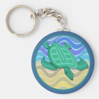 Turtle On Beach Keychain