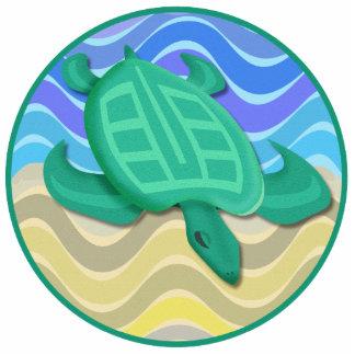 Turtle On Beach Ornament