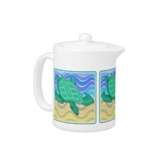 Turtle on Beach Teapot