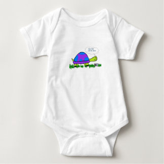 "Turtle on Cell Phone ""Mom I'll Be Late for Dinner"" Baby Bodysuit"