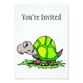 Turtle On Grass 5x7 Paper Invitation Card