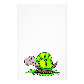 Turtle On Grass Stationery