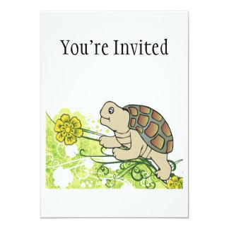 Turtle On Vines 5x7 Paper Invitation Card