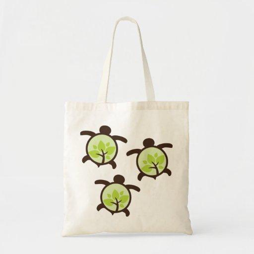 Turtle Organic Planet Reusable Canvas Bags