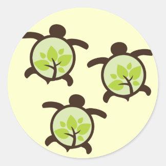 Turtle Organic Planet Stickers